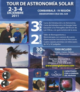 ASTRONOMÍA Y MUSICOTERAPIA OFRECE TOUR